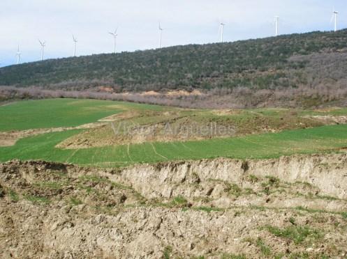 Deslizamientos en Subiza (Navarra)
